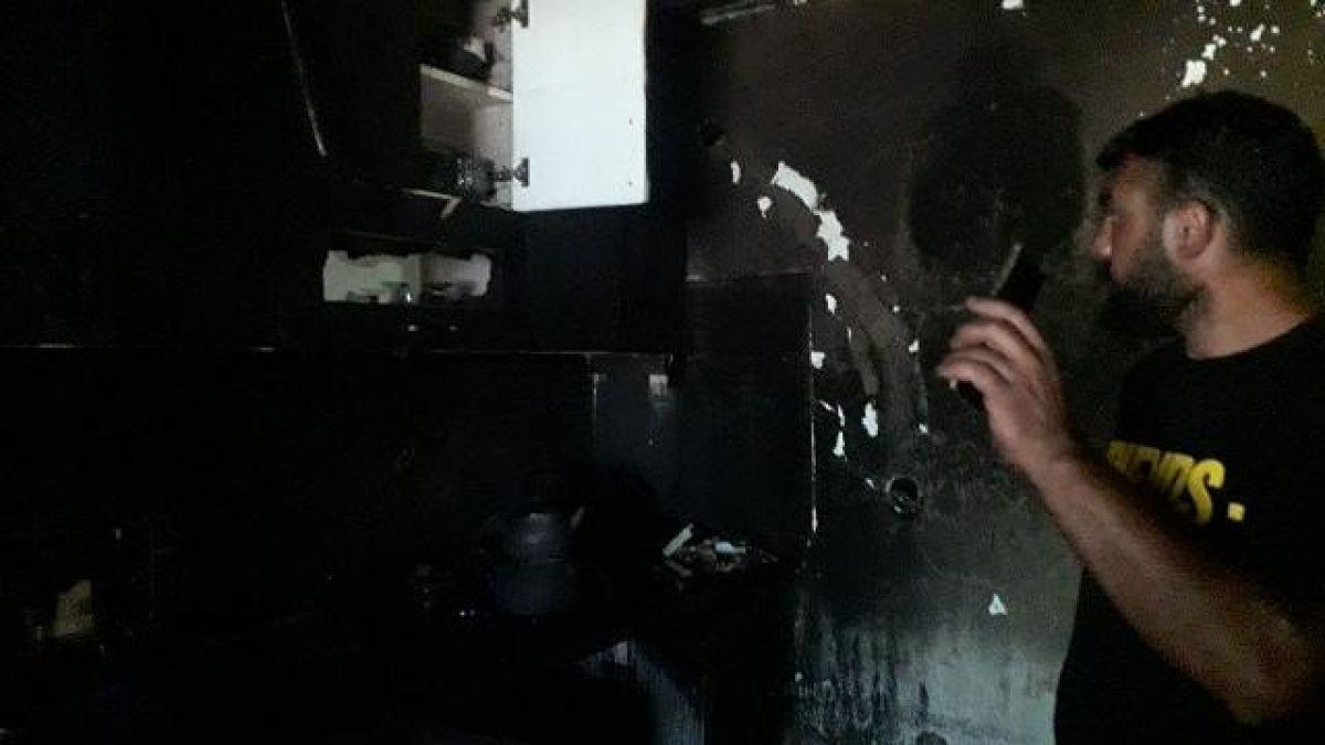 Muş ta buzdolabı patladı, evleri harabeye döndü #7