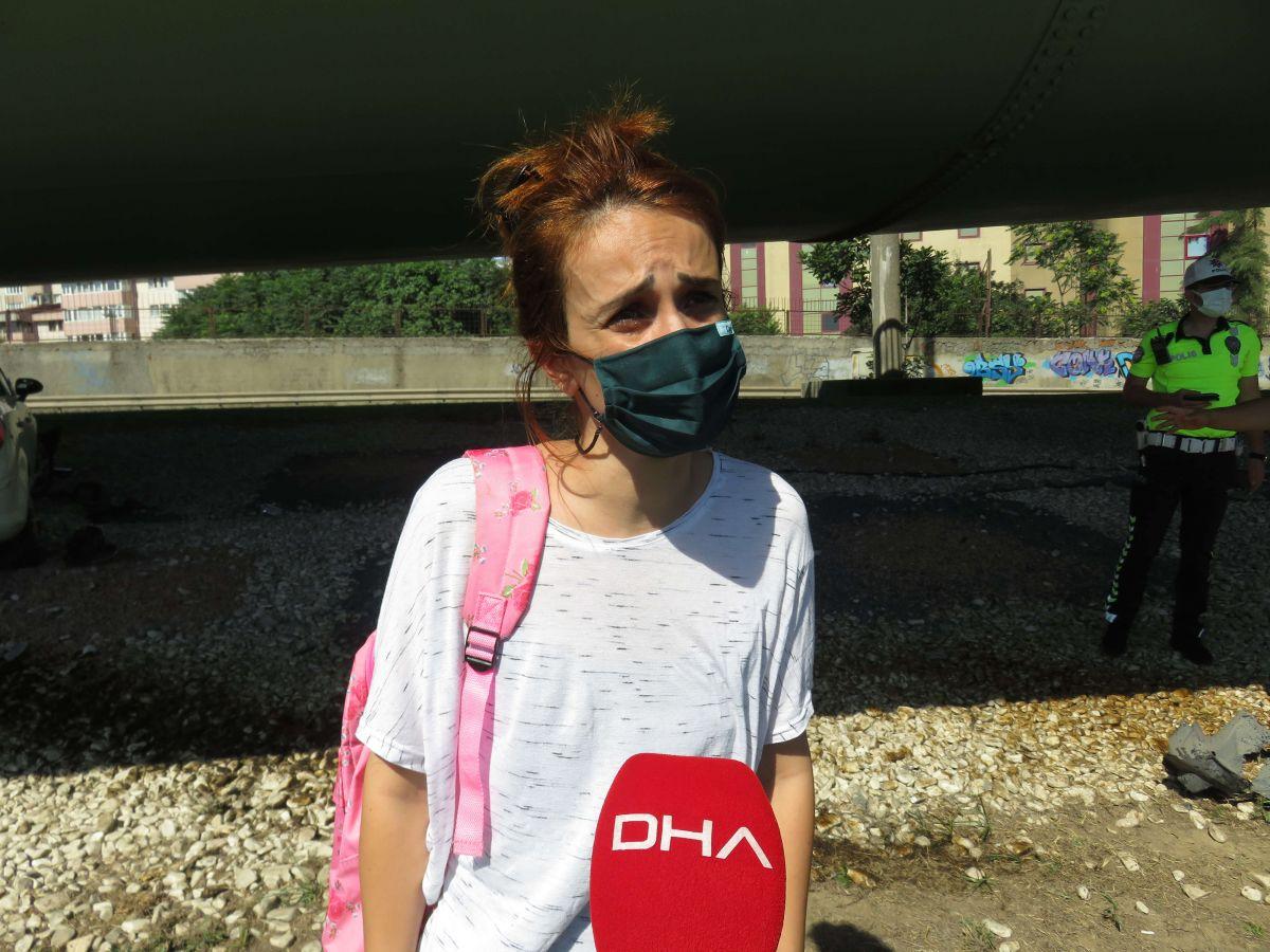 Kadıköy de kaza yapan eşi için gözyaşı döktü #9
