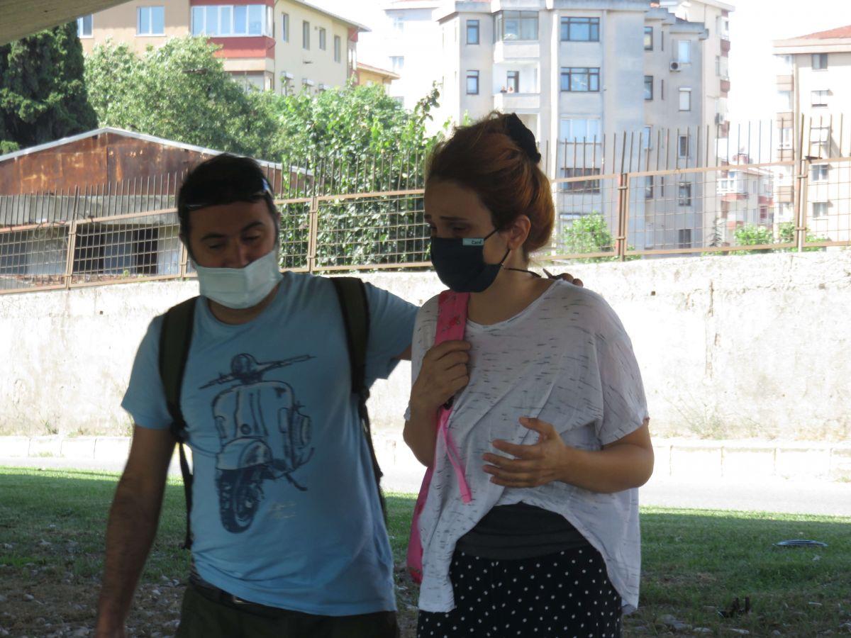Kadıköy de kaza yapan eşi için gözyaşı döktü #5