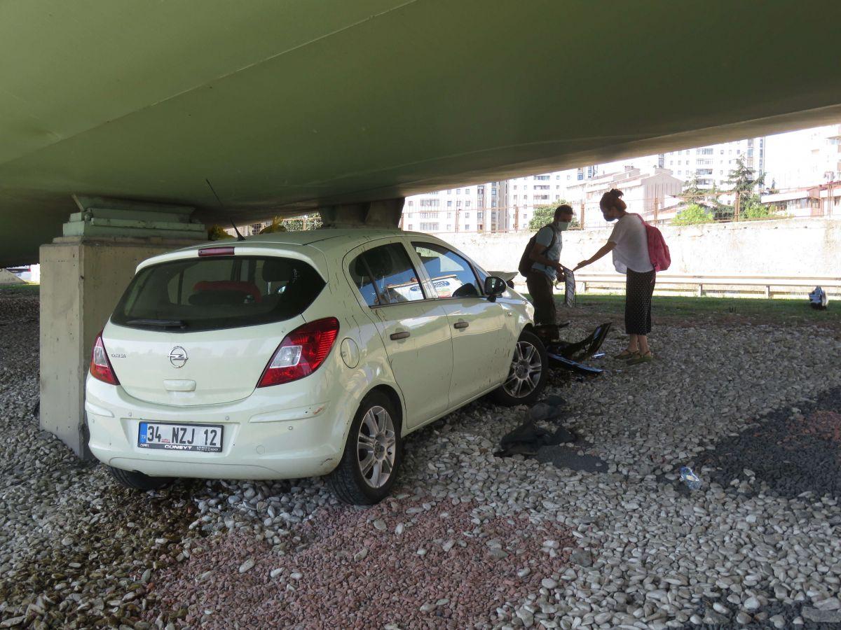 Kadıköy de kaza yapan eşi için gözyaşı döktü #7
