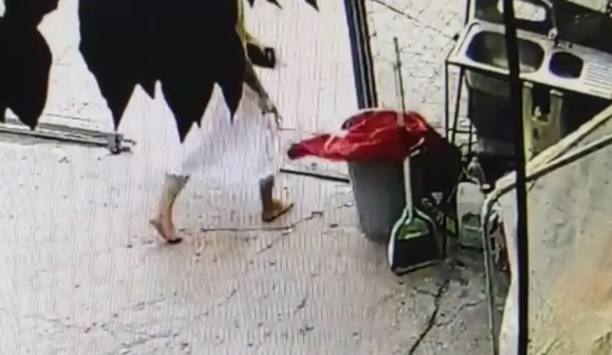 Adana da iş yerine asılı Türk bayrağını koparan kadın, çöpe attı #3