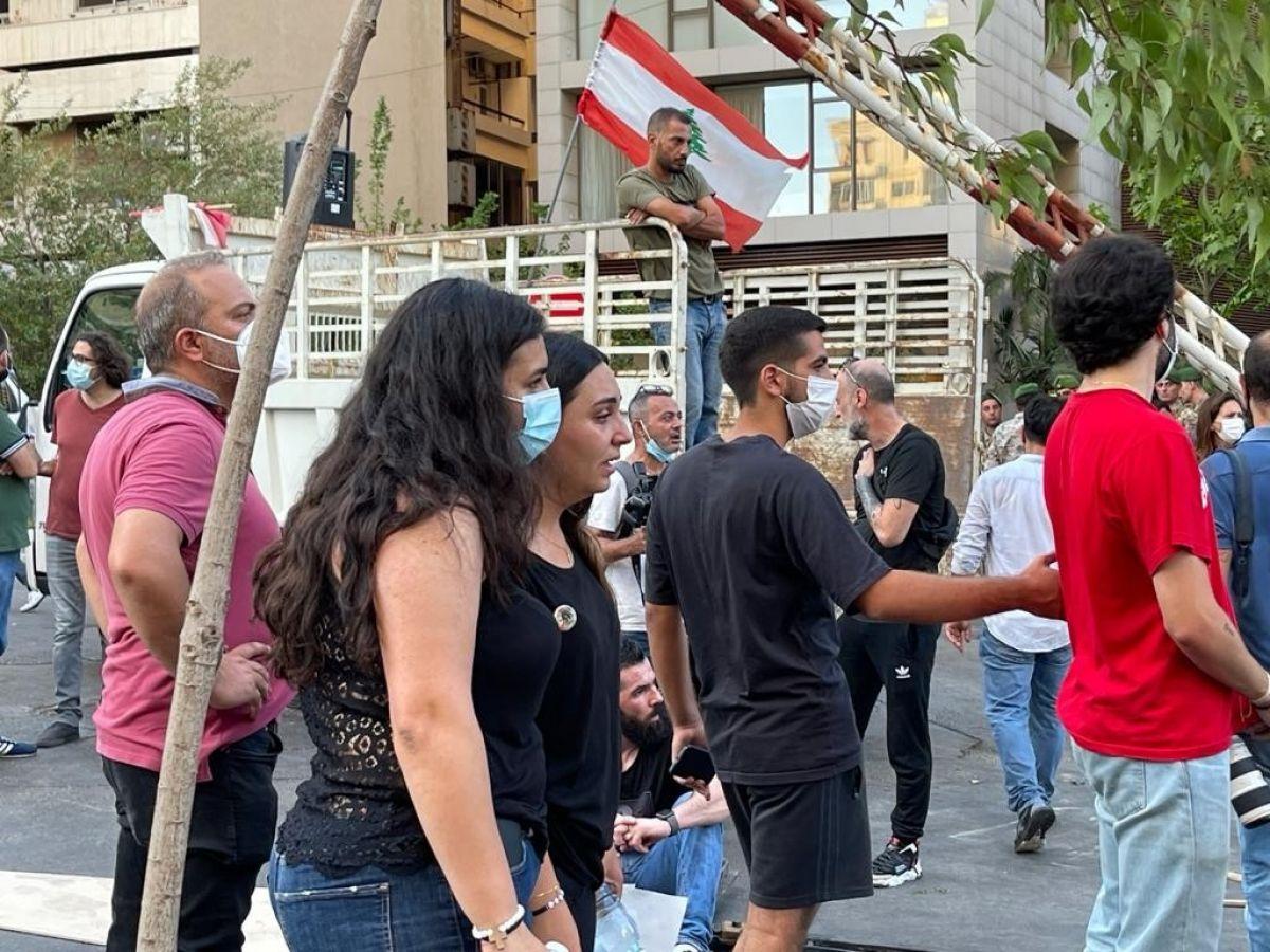 Beyrut Limanı patlamasında yakınlarını kaybeden ailelerden tabutlu protesto #4