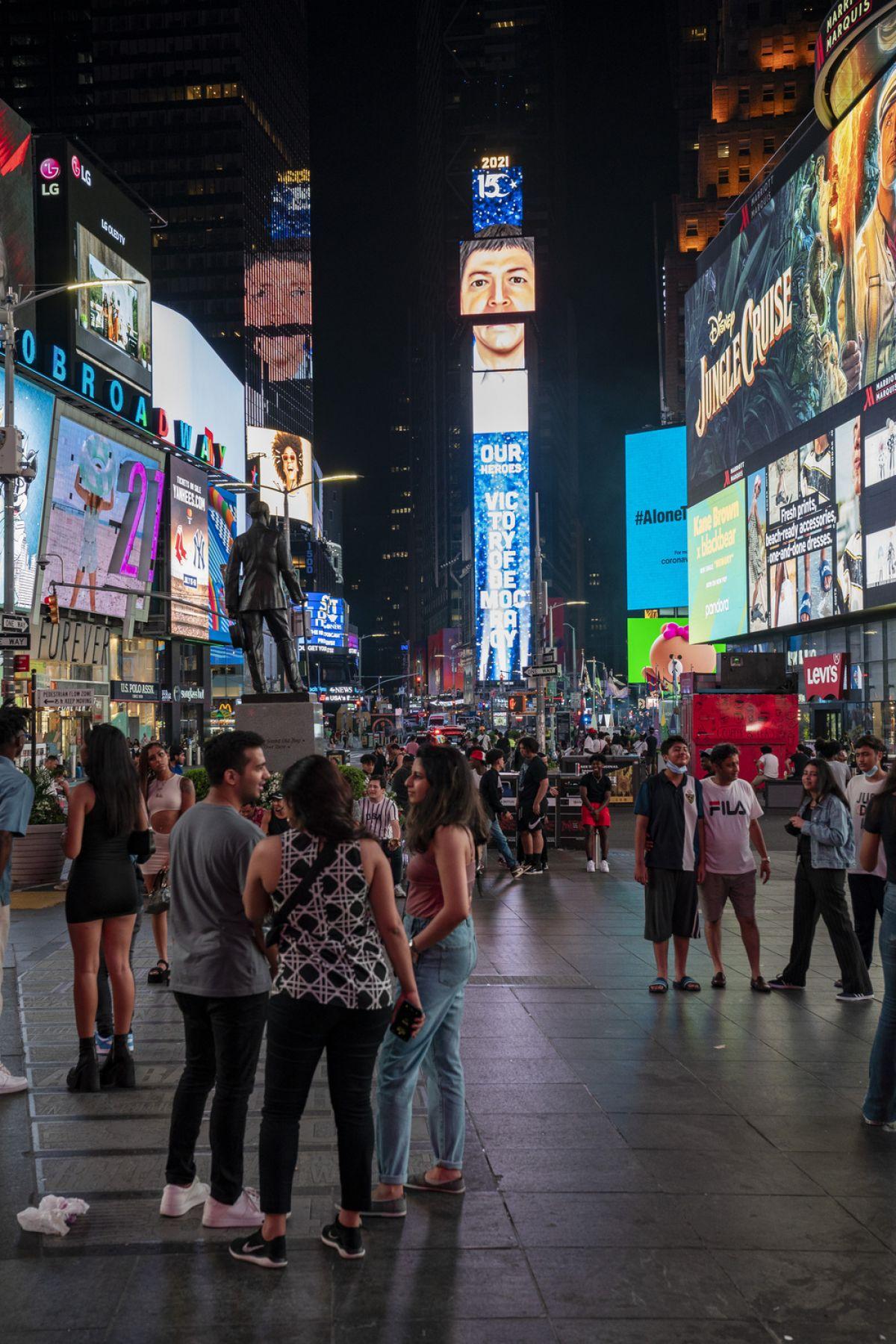 New York'un Times Meydanı nda 15 Temmuz: Türkiye Geçilmez #4