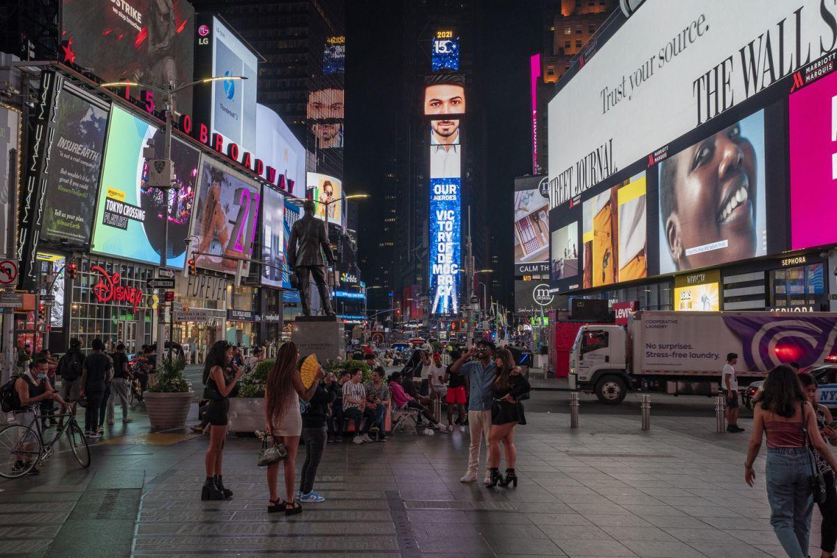 New York'un Times Meydanı nda 15 Temmuz: Türkiye Geçilmez #3