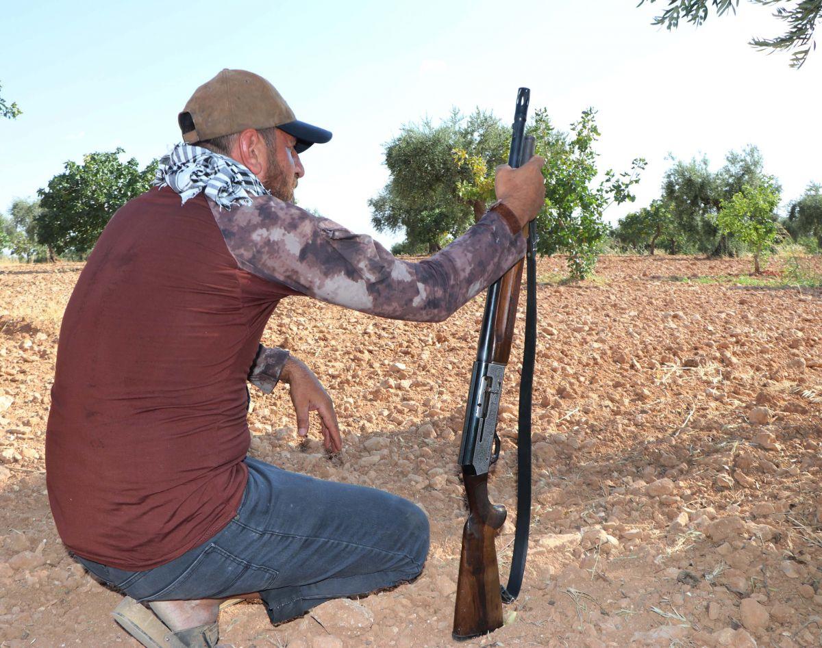 Gaziantep te bekçiler, silahla Antep fıstığı nöbeti tutuyor #4