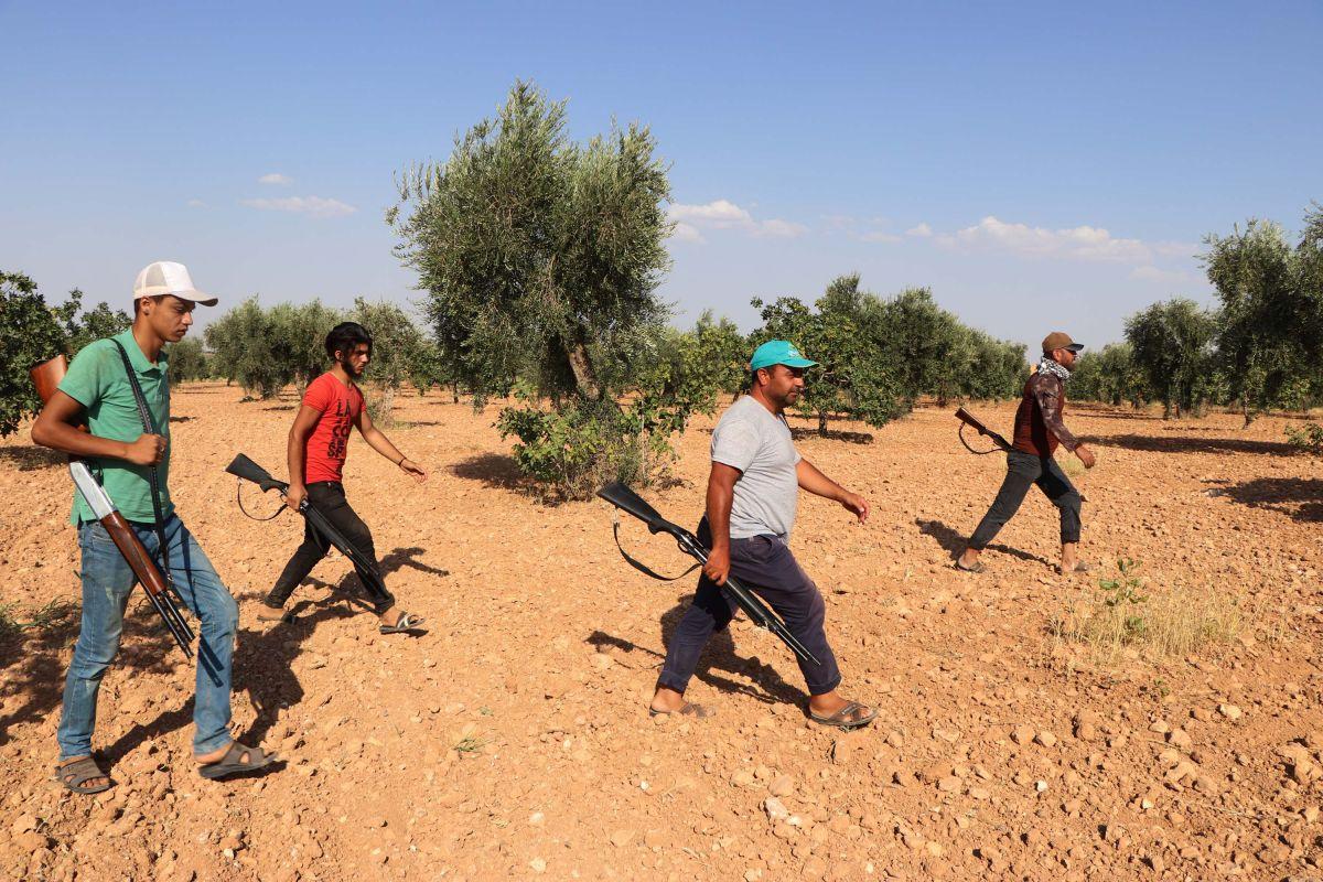 Gaziantep te bekçiler, silahla Antep fıstığı nöbeti tutuyor #2