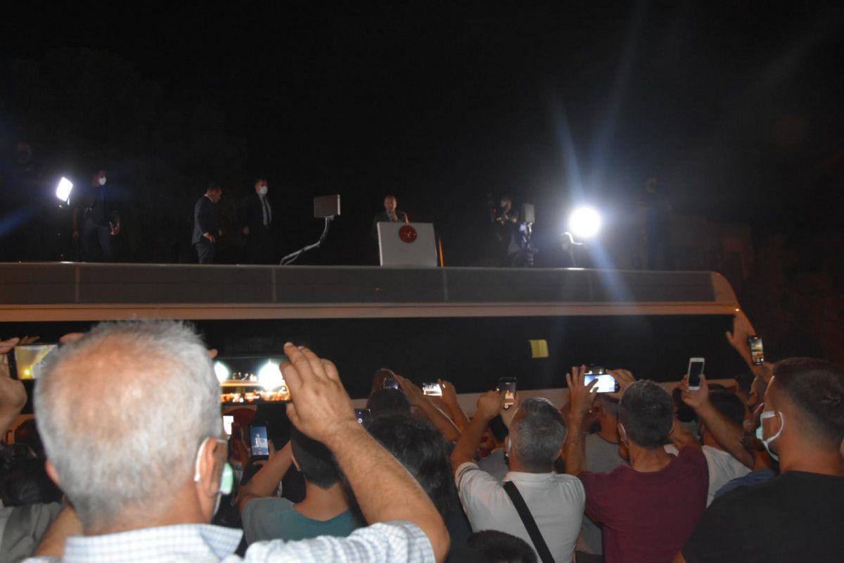 Cumhurbaşkanı Erdoğan yangın bölgesi Marmaris te #5