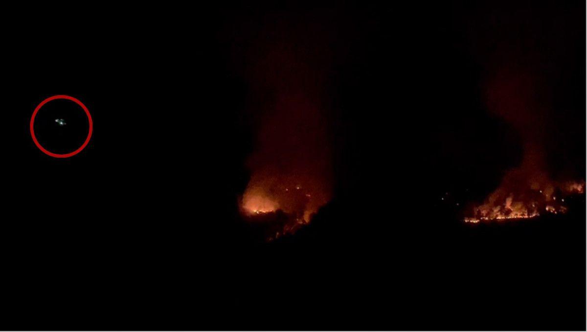 Isparta daki yangına gece görüşlü helikopterle müdahale #2