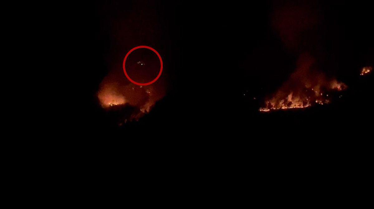 Isparta daki yangına gece görüşlü helikopterle müdahale #4
