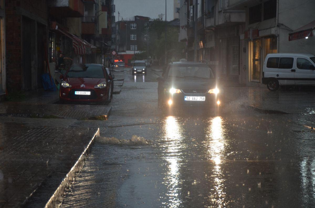 Ordu da sağanak yağış etkili oldu #3