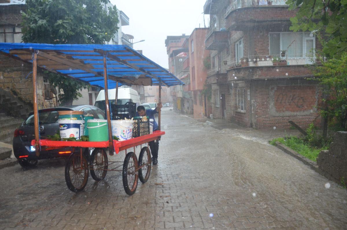 Ordu da sağanak yağış etkili oldu #2