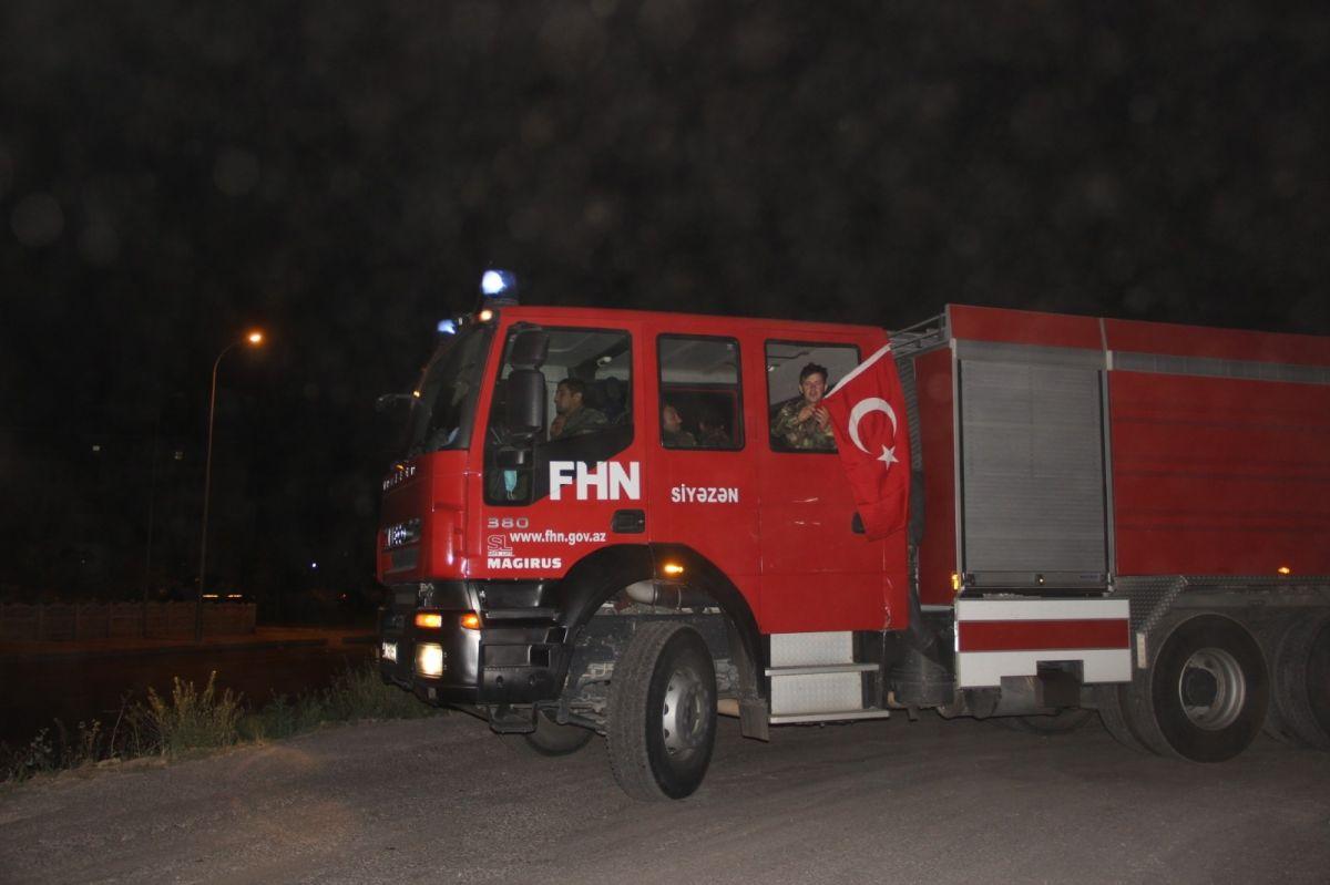 Azerbaycan dan Türkiye ye itfaiye desteği sürüyor #2