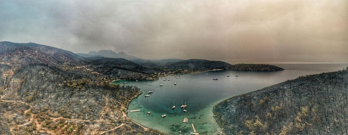 Bodrum ve Milas ta yanan alanlar drone ile havadan görüntülendi #3