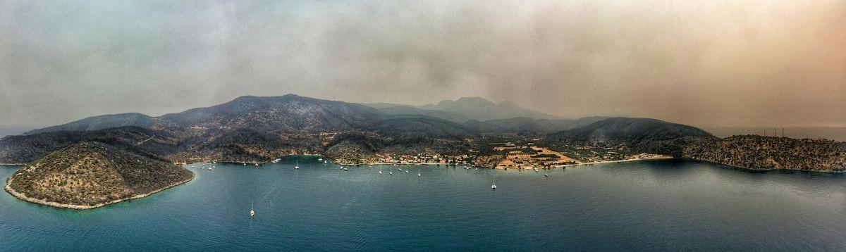 Bodrum ve Milas ta yanan alanlar drone ile havadan görüntülendi #8