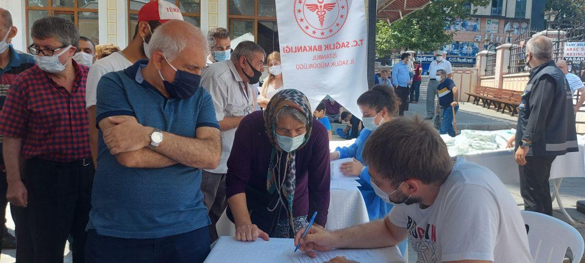 Bahçelievler'de cami avlusuna seyyar aşı istasyonu kuruldu #4