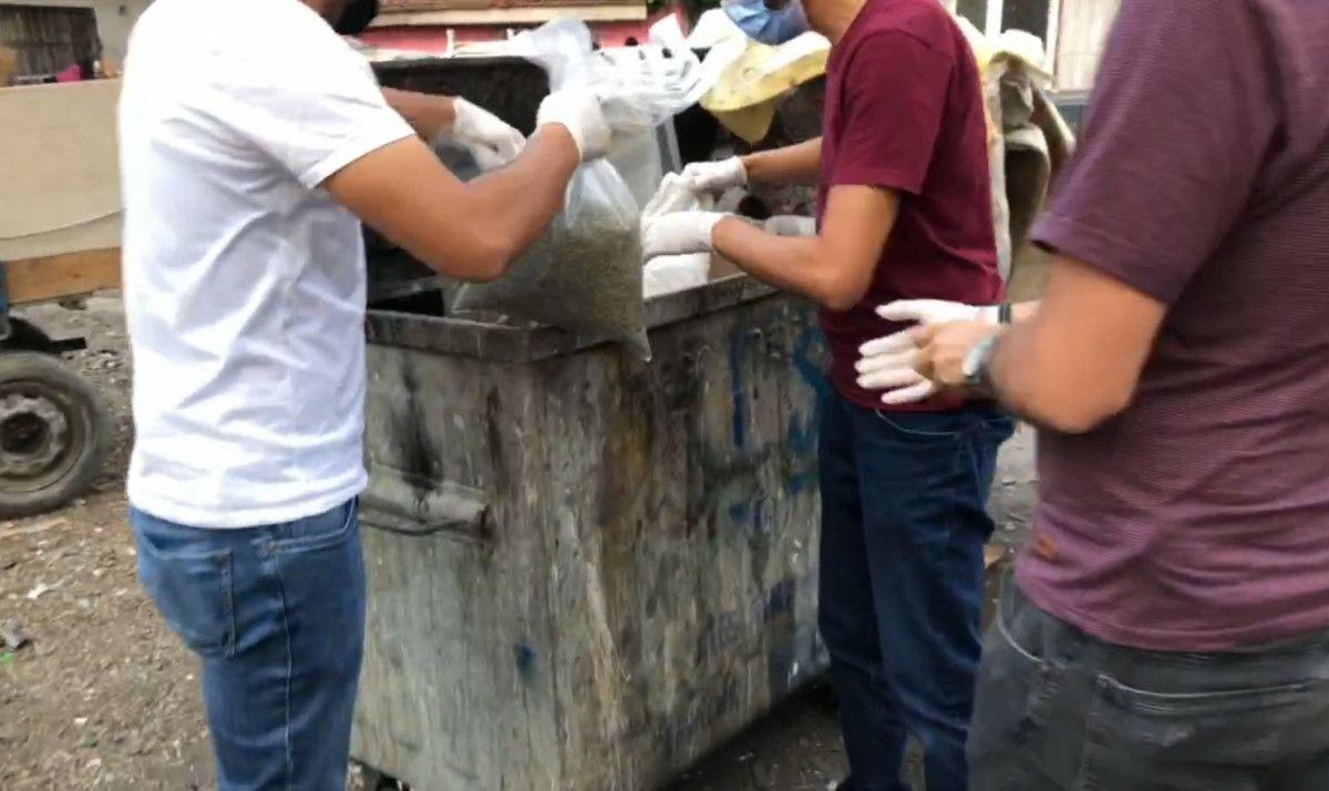 Bursa da çöp konteynerinden 28 kilo bonzai çıktı #2