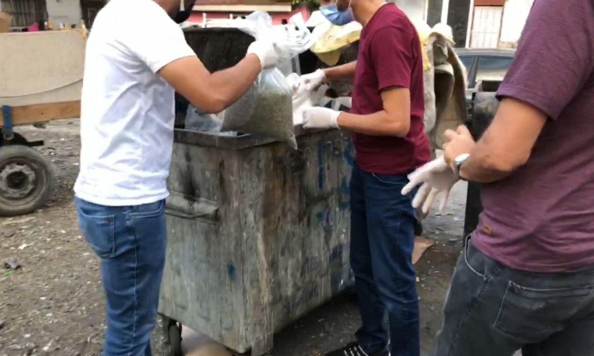 Bursa da çöp konteynerinden 28 kilo bonzai çıktı #1
