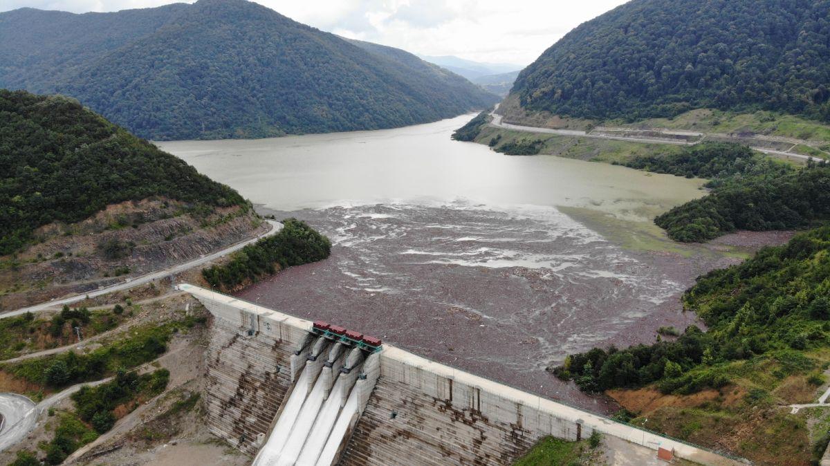 Bartın da selin getirdiği ağaçlar, Kirazlı Barajı'nı tehdit ediyor #1