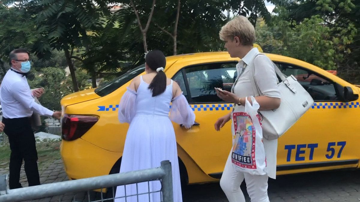 Taksim den Maçka ya 200 lira isteyen taksici engellendi #5