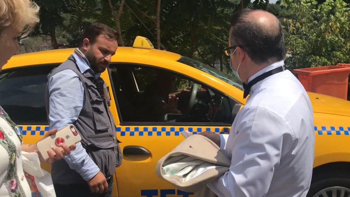 Taksim den Maçka ya 200 lira isteyen taksici engellendi #6