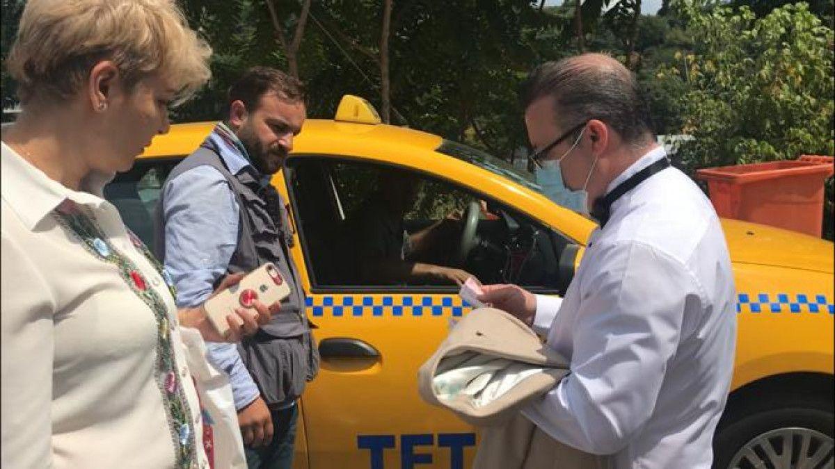 Taksim den Maçka ya 200 lira isteyen taksici engellendi #3