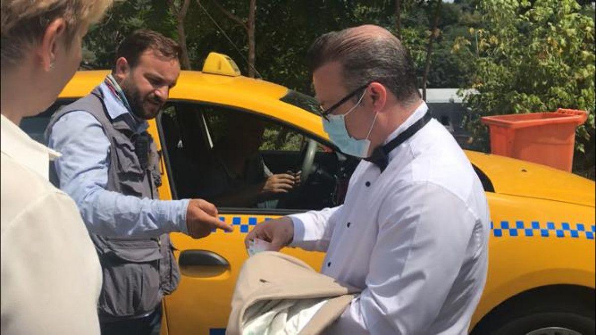 Taksim den Maçka ya 200 lira isteyen taksici engellendi #1