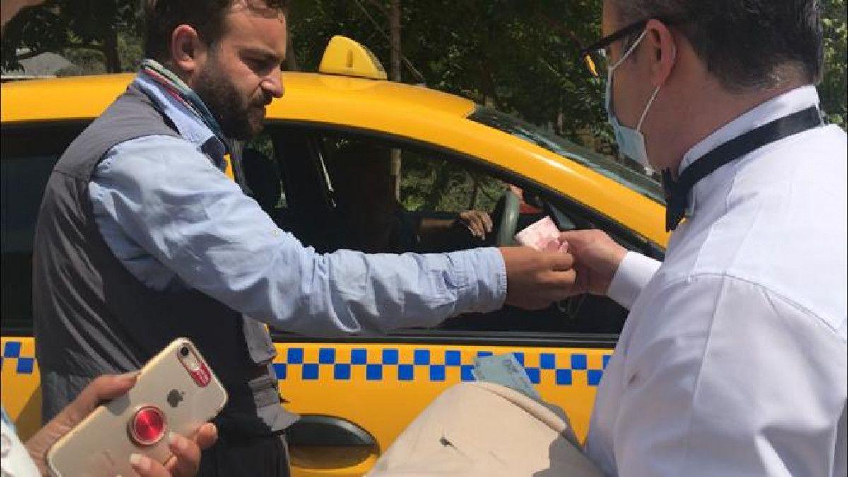 Taksim den Maçka ya 200 lira isteyen taksici engellendi #2