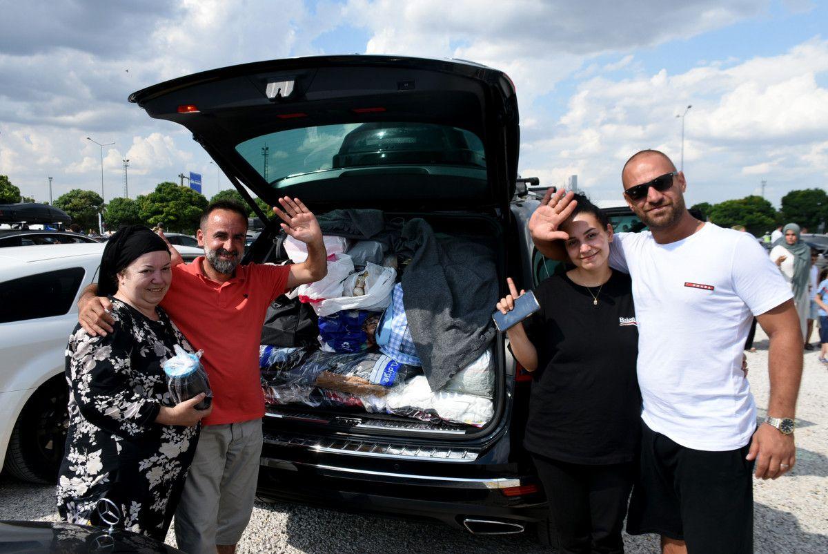 Gurbetçiler dönüş yolunda bagajları doldurdu #4
