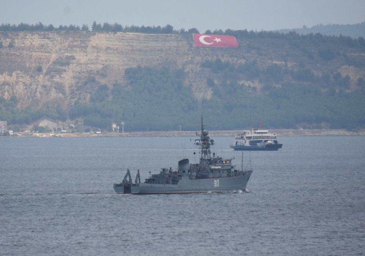 Çanakkale den geçen Rus mayın tarama gemisi, Marmara ya yol aldı #4