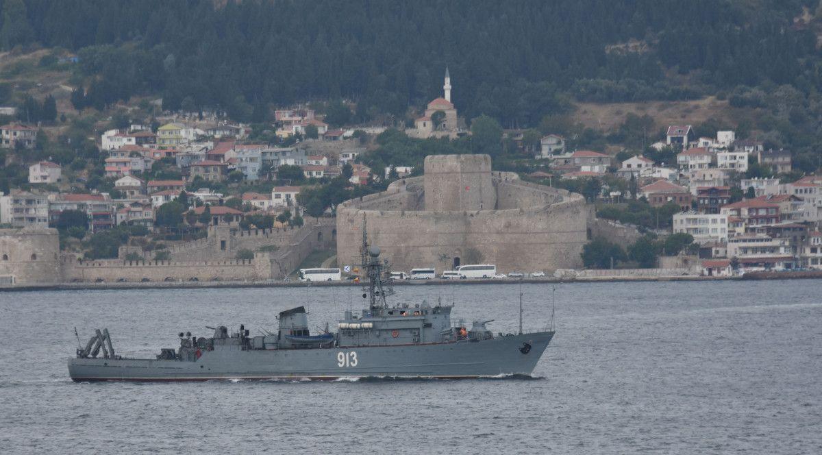 Çanakkale den geçen Rus mayın tarama gemisi, Marmara ya yol aldı #2