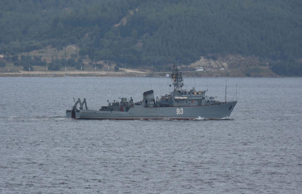 Çanakkale den geçen Rus mayın tarama gemisi, Marmara ya yol aldı #3