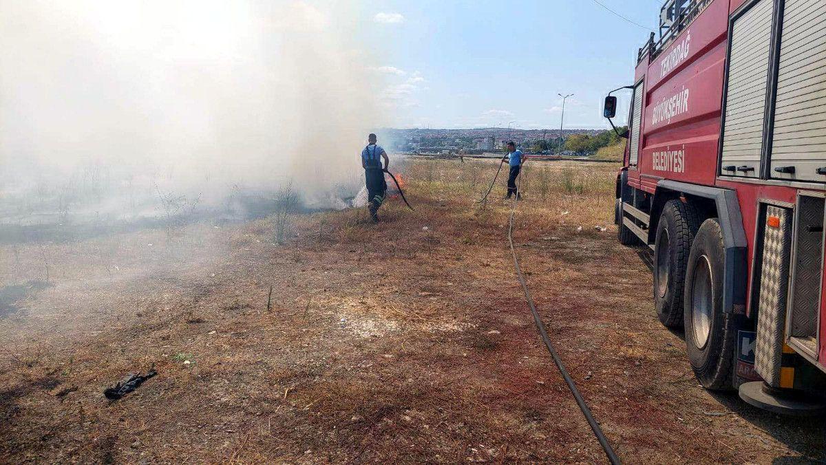 Tekirdağ da makilik alanda yangın çıktı #4