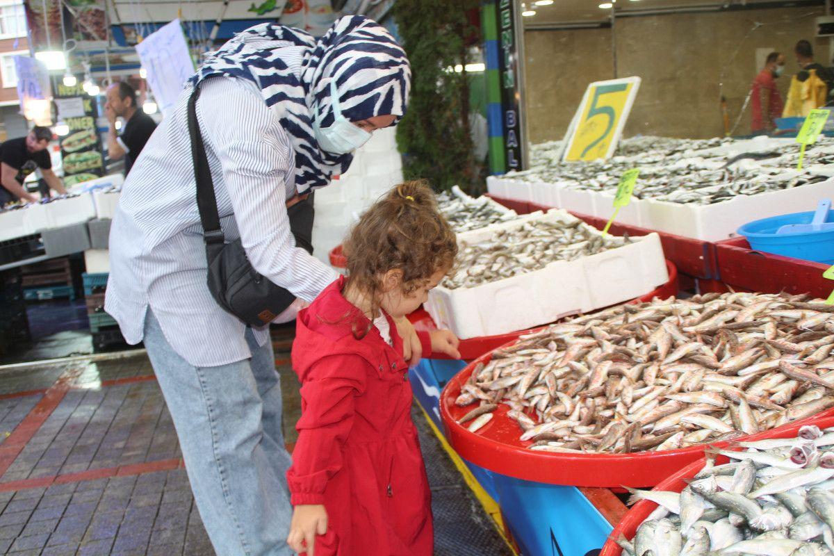 Rize'de kilosu 5 TL ye düşen istavrit, kasalarla satılıyor #6