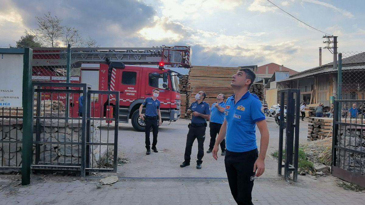 Bursa da alkolün etkisiyle trafoya çıkan kişi, uyudu #6