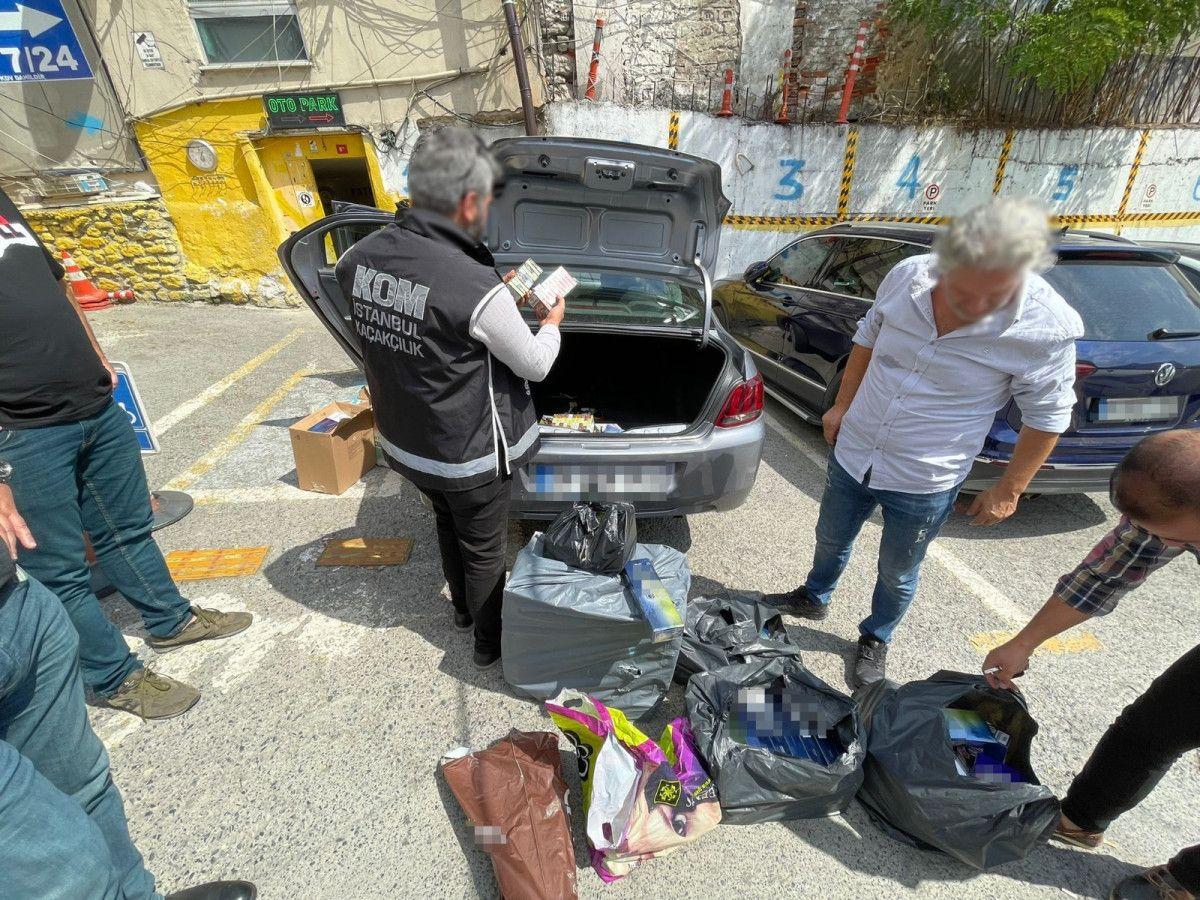Fatih teki kaçak tütün operasyonunda 80 bin liralık ürün bulundu #3