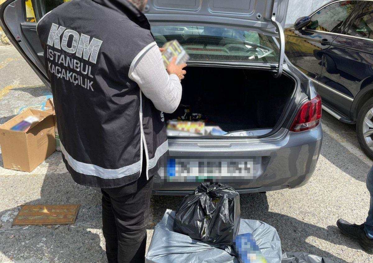 Fatih teki kaçak tütün operasyonunda 80 bin liralık ürün bulundu #1