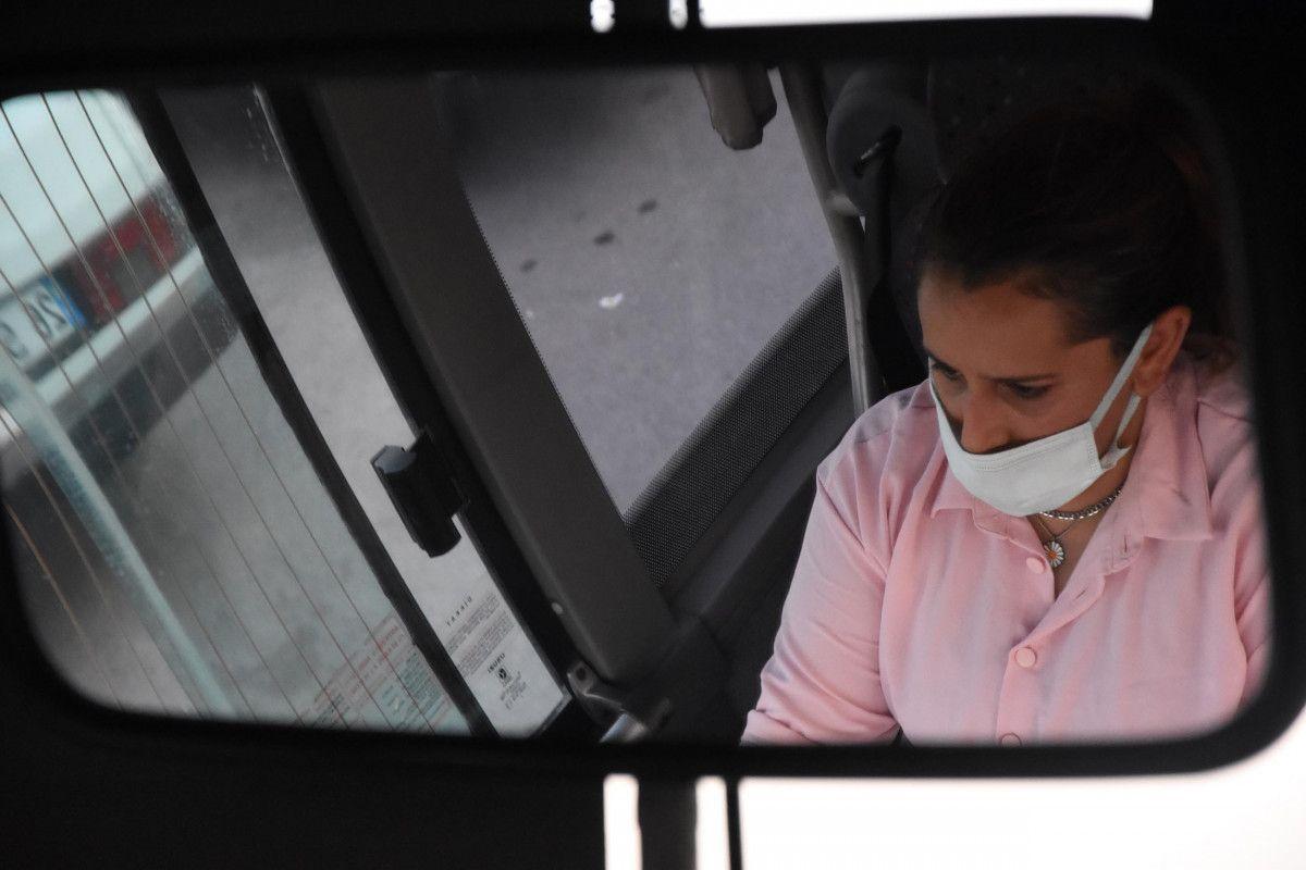 Kütahya da ilk kez bir kadın, otobüs şoförlüğüne başladı #4