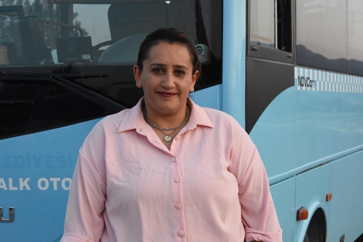 Kütahya da ilk kez bir kadın, otobüs şoförlüğüne başladı #9