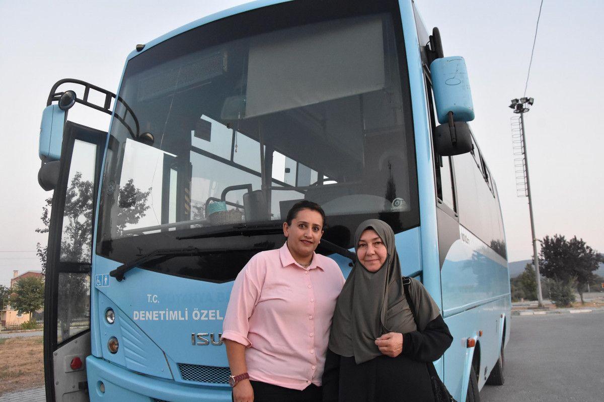 Kütahya da ilk kez bir kadın, otobüs şoförlüğüne başladı #5