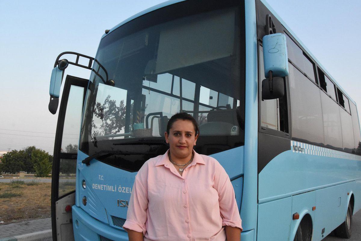 Kütahya da ilk kez bir kadın, otobüs şoförlüğüne başladı #2