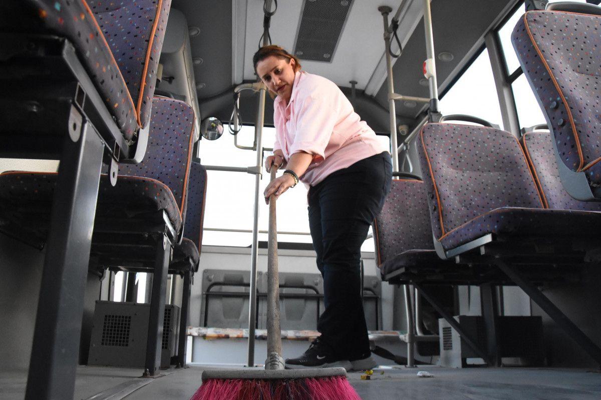 Kütahya da ilk kez bir kadın, otobüs şoförlüğüne başladı #6
