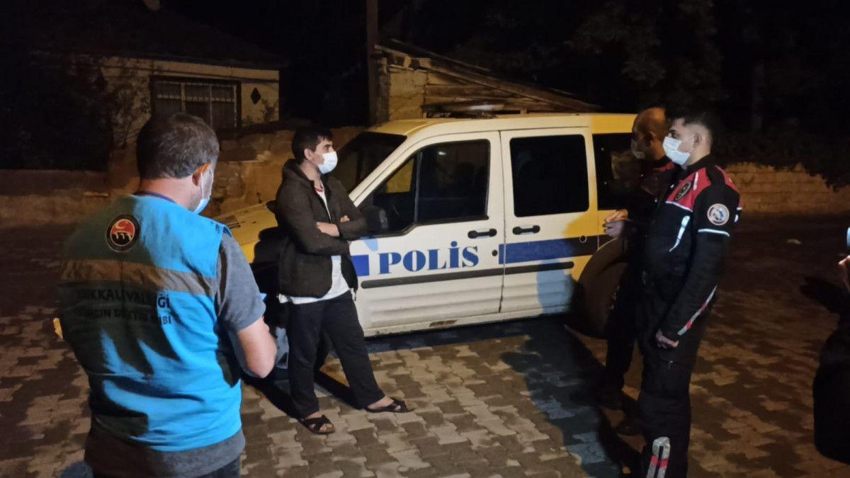 Kırıkkale de Kovid-19 hastası markete giderken yakalandı #1