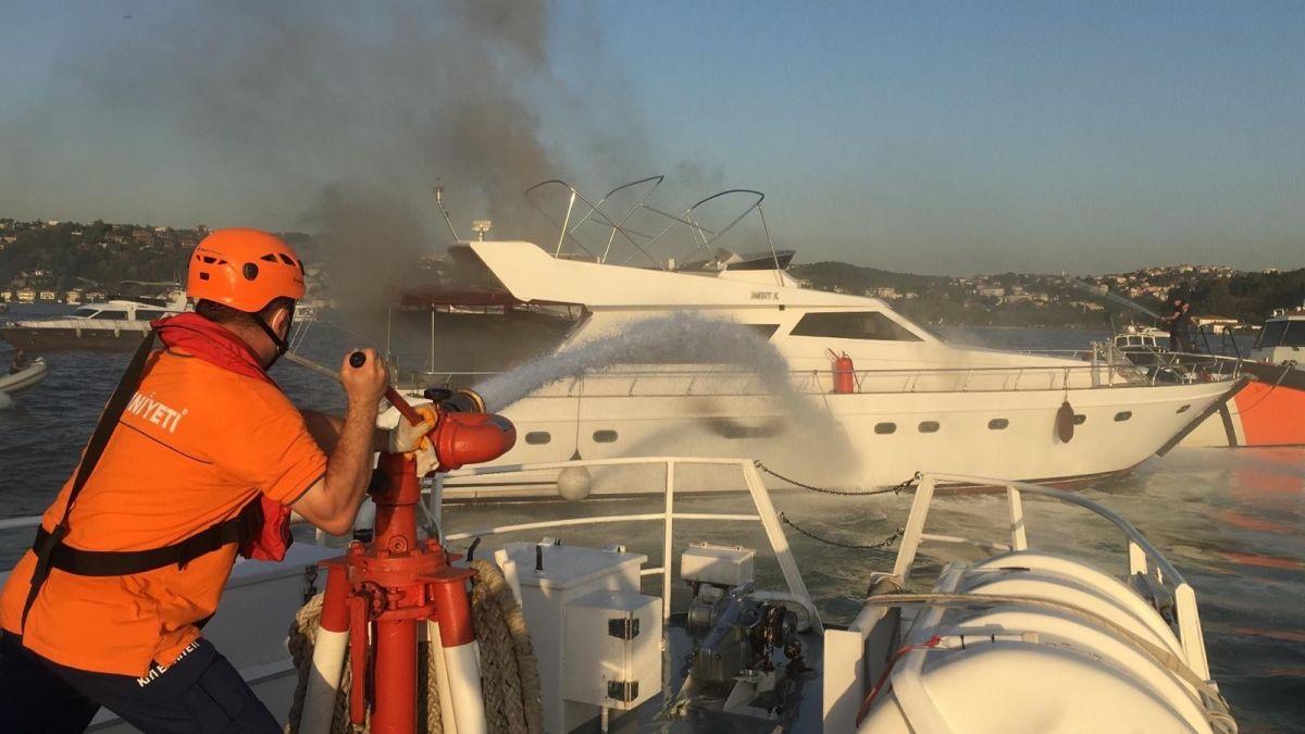 İstanbul Bebek te tekne yangını #2