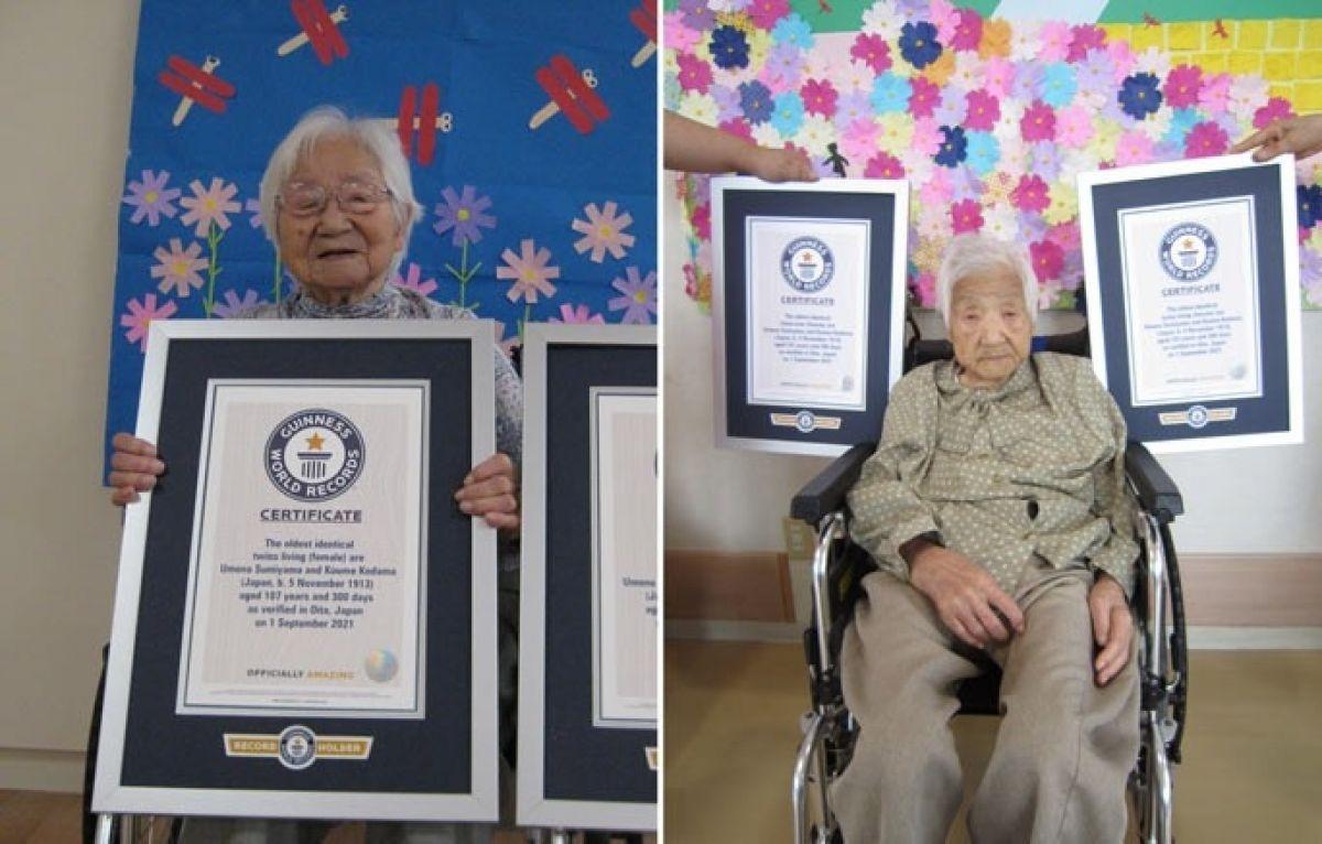Dünyanın en yaşlı tek yumurta ikizleri Japonya da tescillendi #1