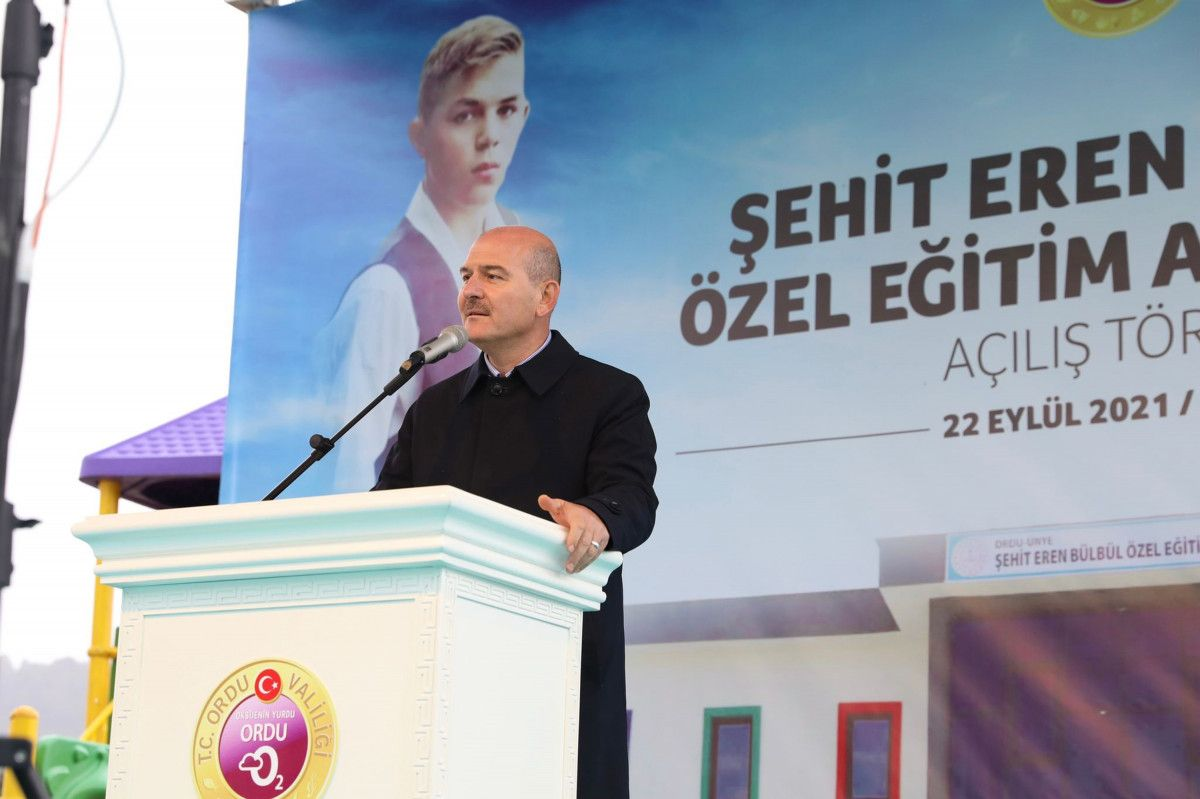 Süleyman Soylu, Eren Bülbül adına yapılan okulun açılışına katıldı #1