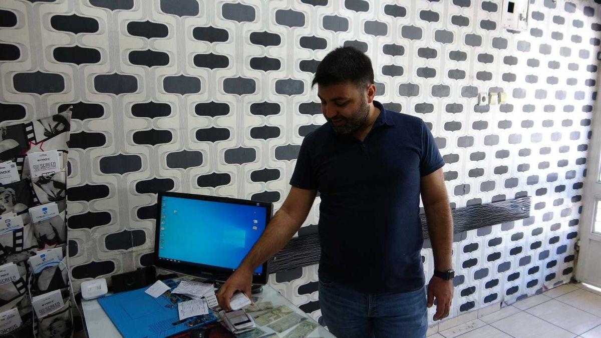 Mersin'de bir hırsız, bozuk telefonu çaldı #5
