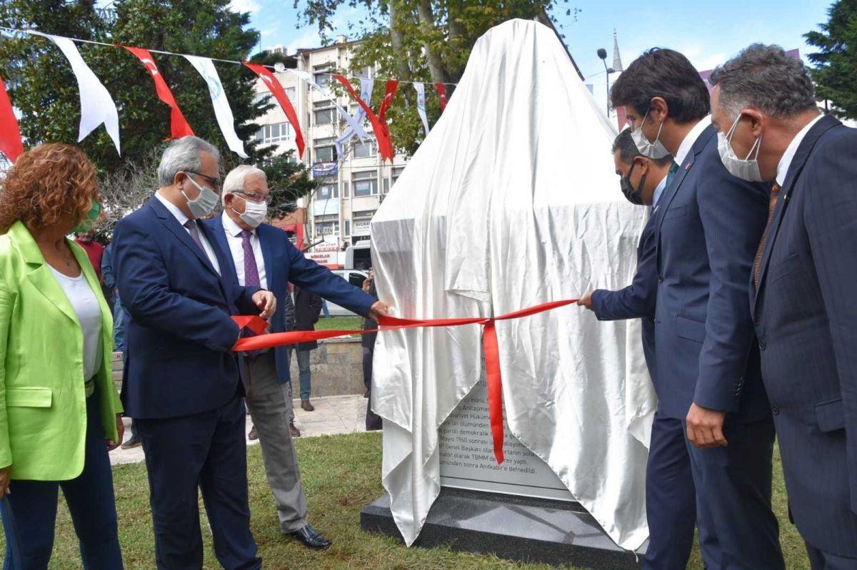 Zonguldak ta İsmet İnönü nün adı verilen park ve büst açıldı #1