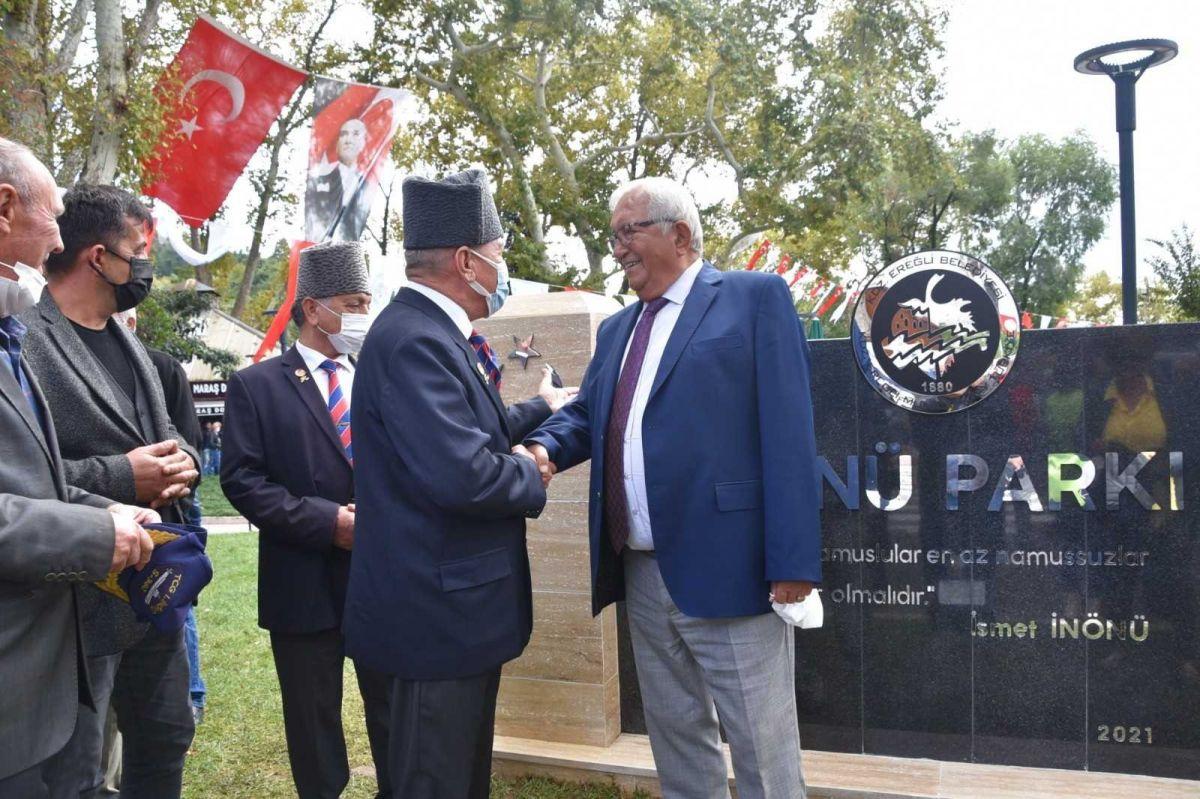 Zonguldak ta İsmet İnönü nün adı verilen park ve büst açıldı #5