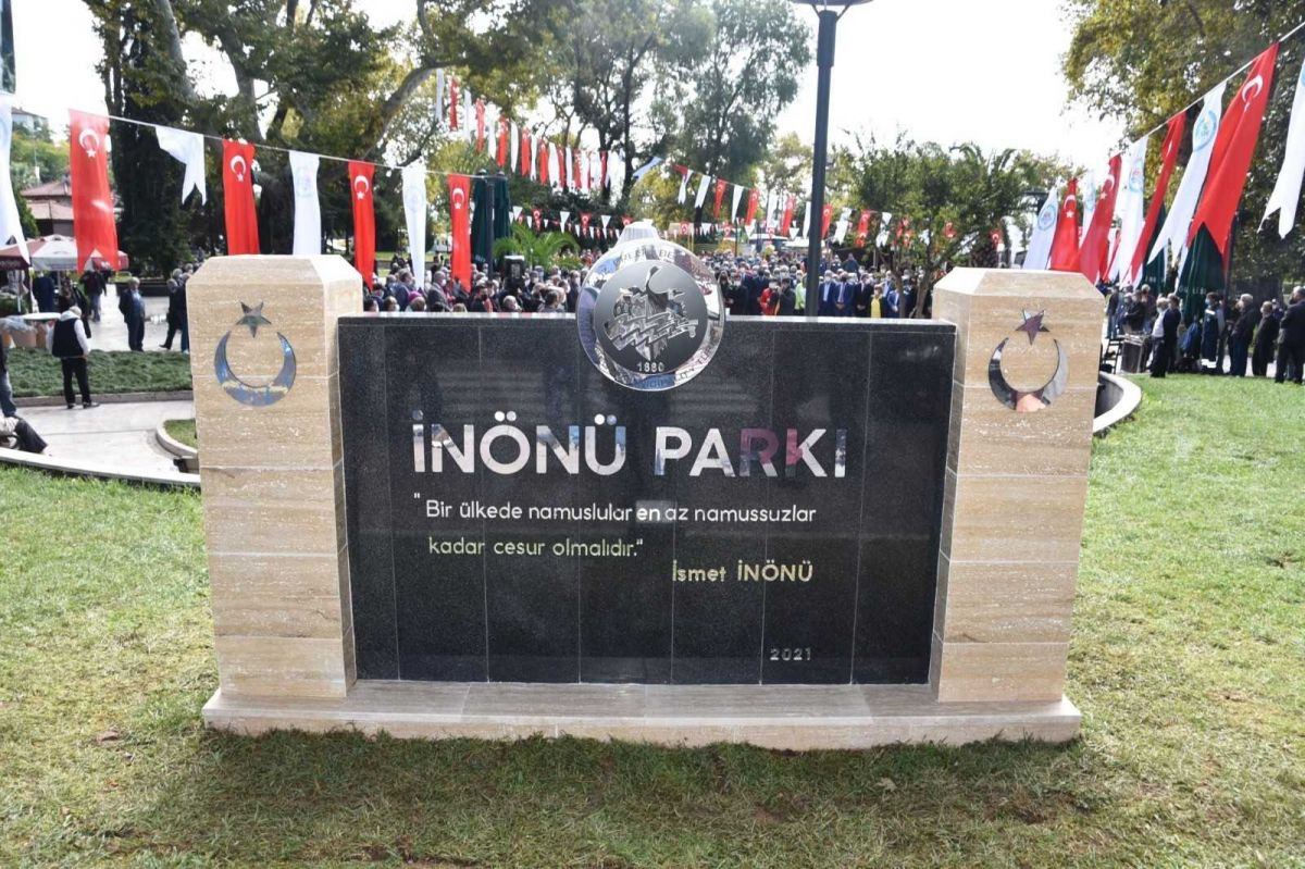 Zonguldak ta İsmet İnönü nün adı verilen park ve büst açıldı #3