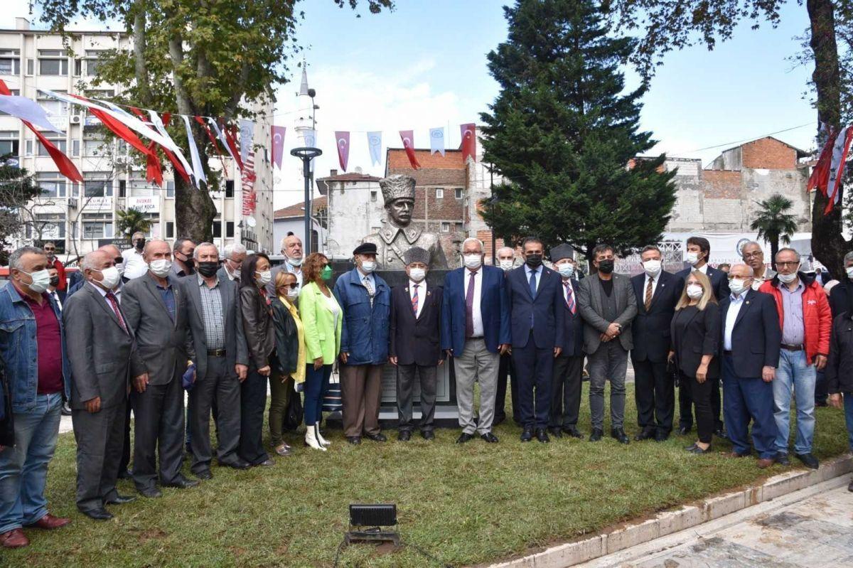 Zonguldak ta İsmet İnönü nün adı verilen park ve büst açıldı #6